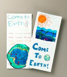Extraterrestrials Visit Earth lesson plan - Make a travel brochure for planet Earth!  Could also make travel brochures for different biomes...