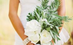 15 Herb Bouquets (And What They Symbolize!) 15 Herb Bouquets (And What They Symbolize!)Love the idea of a mint / sage / mallow bouquet with ro Fern Wedding, Church Wedding Flowers, Cheap Wedding Flowers, Floral Wedding, Wedding Colors, Wedding Bouquets, Wedding Stuff, Maroon Wedding, Wedding Ideas