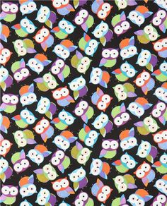 beautiful black owl fabric by Timeless Treasures #owls