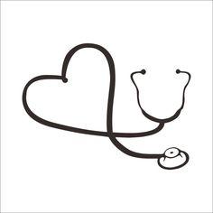 Funny Doctor Nurse Stethoscope Sticker Car Laptop Notebook refrigerator Art Wall Vinyl Decal