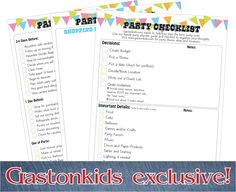 free 3 page party planning checklist and guide