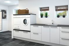 Tvättstuga - New York - North Sea Kitchen Modern Laundry Rooms, Laundry Room Layouts, Laundry Room Storage, Laundry Room Inspiration, House Inside, Laundry Room Design, Küchen Design, Modern Kitchen Design, Home Interior Design