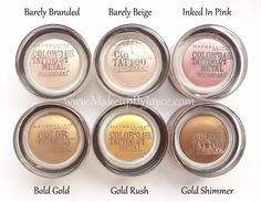 I love using Maybelline's cream eyeshadows (retails 6.99 USD each) as a base for my powder eyeshadows because it lengthens the wear of my eye makeup!