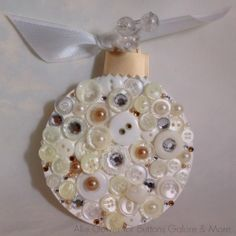 Homemade Christmas Ornament with buttons