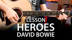 How to play HEROES by David Bowie on guitar ( lesson tutorial )