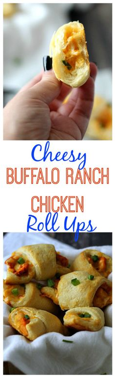 Cheesy Buffalo Ranch Chicken Roll Ups, Yum!! Such an easy dinner full of flavor!  These will definitely be on your weekly menu!