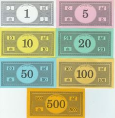 Use Printable Play Money Templates