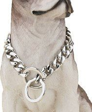 (Sorry this pin does not lead to any information on how to obtain a collar like this) Ultra Strong Designer Pitbull Dog Collar - Wide Slip Chain Collar - 680 Lbs Strong! - Best for Pit Bull, Mastiff, Bulldog. Online Pet Supplies, Dog Supplies, American Bully, Collar Chain, Designer Dog Collars, The Perfect Dog, Dog Items, Cane Corso, Steel Metal