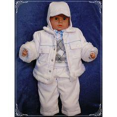"""Zimowy komplet """"Alex"""" to stylowe i zapewniające ciepło #ubranko do #chrztu chroniące Twoje dziecko nawet w czasie największych mrozów."""
