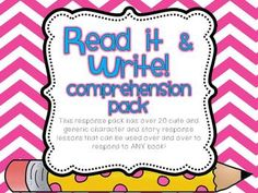 This packet is perfect for small group instruction (Guided Reading groups) and can also be utilized daily for whole group instruction (for ages K-3). When I teach these responses whole group, we call it READER'S WORKSHOP. Students have used these responses through out the entire year as they are motivating and graphically pleasing.