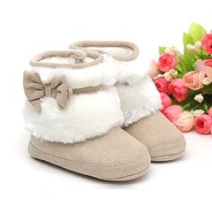 Brown Baby Girls Winter Snow Boots