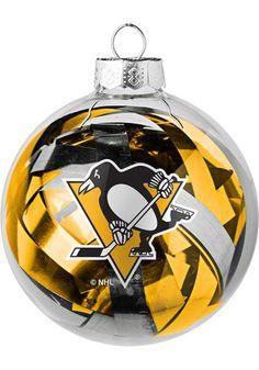 Pittsburgh Penguins Tinsel Ball Ornament