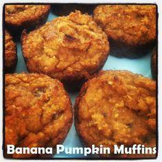 Healthy Banana Pumpkin Muffins   fitfortherun