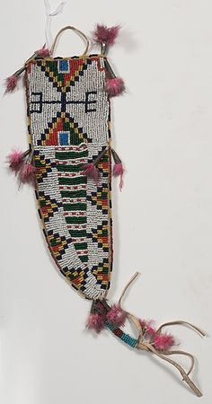 Sioux Beaded Hide Knife Sheath From a Minnesota Collection (9/11/2015 - American Indian: Timed Auction - ends 9/28)