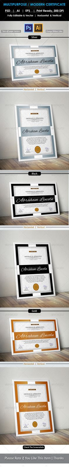 Multipurpose Certificates III Certificate, Psd templates and - business certificate templates