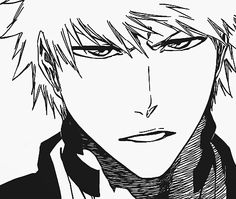 Uploaded by Mikan Natsume ♥. Find images and videos about black and white, anime and bleach on We Heart It - the app to get lost in what you love. Ichigo Manga, Bleach Ichigo Bankai, Manga Bleach, Bleach Drawing, Manga Anime, Bleach Fanart, Manga Art, Anime Guys, Shinigami