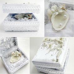 Seashell Wedding Ring Holder Ring bearer pillow от JewelryBouquet