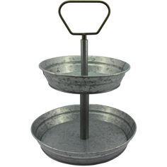 Better Homes and Gardens 2-Tier Round Server.  Great for parties, brunches -- or organization! (affi)