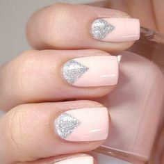 fun but not too bling - bridal nail art