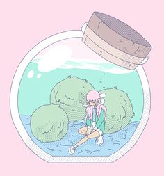 "sarlisart: "" i miss my marimo friends """