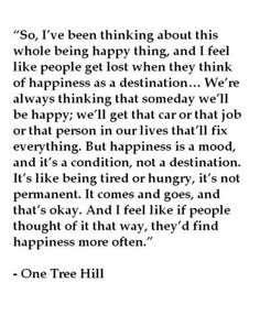 Happiness : a mood, not a destination