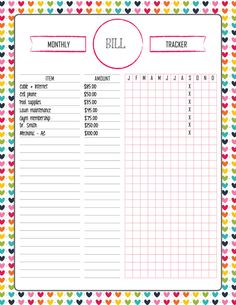 Pdf And Excel Daily Expense Tracker  Printable Organization Lists