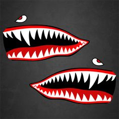 2 WWII Flying Tigers P-40 Warhawk Nose Art Decals