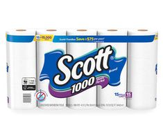 Scott 1000 is sewer & septic safe, making the bathroom tissue perfectly flushable. Scott 1000 toilet paper gives you the quality you want in septic-safe sheets. Performance and long-lasting toilet paper rolls with the value you expect. Sugar Scrub Diy, Diy Scrub, Scott Brand, Big Lots Store, Senior Home Care, Septic System, Fall Scents, Toilet Paper Roll, Tissue Paper