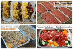 Weekly Meal Plan - Menu Plan Ideas Week 1 of 52 | One Hundred Dollars a Month
