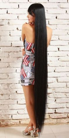 Long Natural Hair, Natural Hair Styles, Long Hair Styles, Sexy School Girl Costume, Long Hair Models, Rapunzel Hair, Long Black Hair, Super Long Hair, Wild Hair