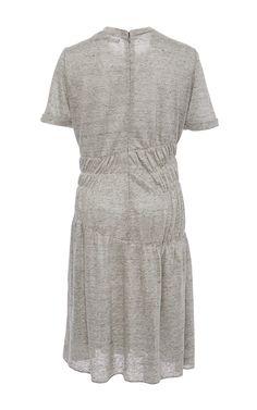 Mélange Jersey Pleated Short Sleeve Dress by Wes Gordon for Preorder on Moda Operandi