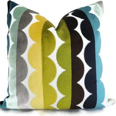 Jonathan Adler Multicolor Semi Circle Velvet by PopOColor on Etsy
