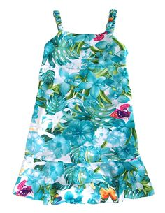 28f15ec77c Check out the deal on Girls Aloha Jungle Dress Bungee Straps at Shaka Time  Hawaii Clothing