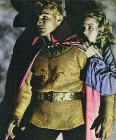 "Buster Crabbe and Jean Rogers in ""Flash Gordon"" (1936)"