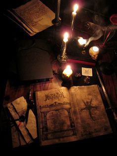 Sanctuary:  Books and candles.