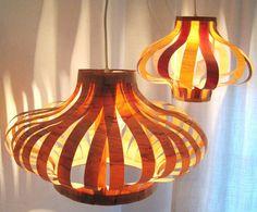 Make Your Own Mid Century Veneer Pendants Poppytalk | Apartment Therapy