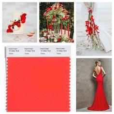 Wedding inspiration for Pantone's Spring 2016 color Fiesta