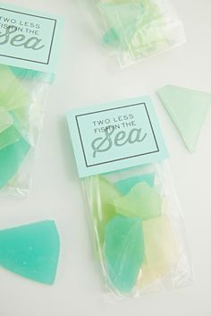 Glass candy favors