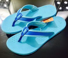 Nike women's flip flops shoes  Nwt flex  size 9 shoes 704692 blue comfy #Nike