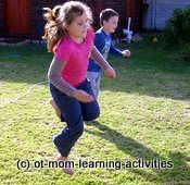 Website: OT Mom learning activities. Great ideas for core strengthening, midline crossing, and bilateral integration games.