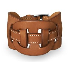 Hermes Leather Cuff.