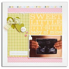 A Project by mary_mac from our Scrapbooking Gallery originally submitted at AM Pregnancy Scrapbook, Baby Scrapbook Pages, Scrapbook Page Layouts, Scrapbook Cards, Scrapbooking Ideas, Diy And Crafts, Paper Crafts, Paper Place, Expecting Baby