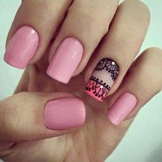 Nail Inks will provide you the most eyecatching nails that suits on your taste for your nails. Love Nails, Pink Nails, Pretty Nails, Gel Nails, Acrylic Nails, Modern Nails, Short Nails Art, Nail Decorations, Easy Nail Art