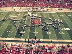 And a cowboy riding a bull: | This Is Why Ohio State University's Marching Band Is Actually The Best Damn Band In The Land