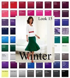 Bring your Winter color swatch to life! See how to translate those fabulous colors into outfits. Visit www.style-yourself-confident.com