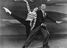 Leslie Caron with Fred Astaire -.....Uploaded By www.1stand2ndtimearound.etsy.com