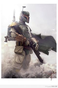 My backpack's got jets, well I'm Boba the Fett...I  bounty hunt for Jabba Hutt to finance my 'vette.