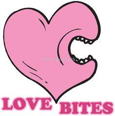 love bites biting heart