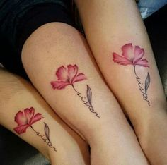 Imagem de tattoo, sisters, and flowers