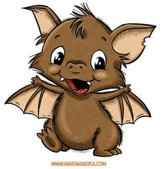 Marvin the Bat DIGI STAMP by MarinaNeira on Etsy